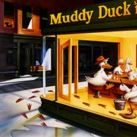 Muddy Duck poster illustration